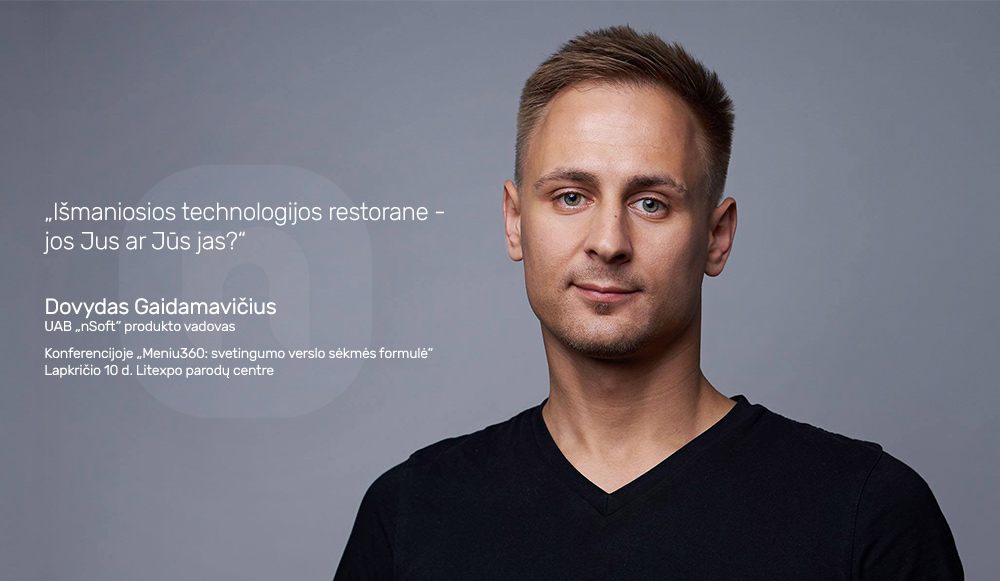 nSoft produkto vadovas Dovydas Gaidamavičius